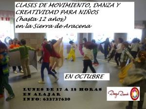 cartel baile niños alajar 2015 OCTUBRE