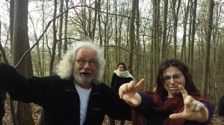 Heinz , artista de coazón, practicante de butoh también se llevó dos para sus hijas...un gran honor.<3